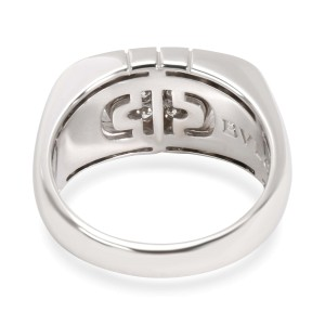 Bulgari Parentesi Diamond Fashion Ring in 18K White Gold 1 CTW