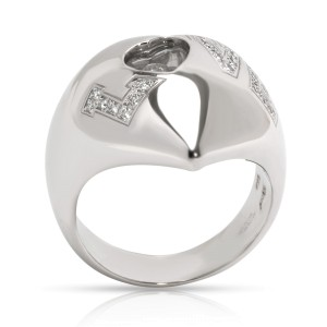 Chopard Happy Love Diamond Ring in 18K White Gold 0.16 CTW