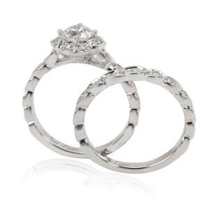 Neil Lane Diamond Engagement Ring Wedding Set in 14K White Gold (1 CTW)