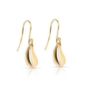 Tiffany & Co. Elsa Peretti Teardrop Earrings in 18K Yellow Gold