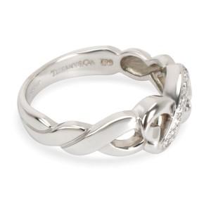Tiffany & Co. Loving Heart Infinity Diamond Ring in 18K White Gold 0.05 CTW