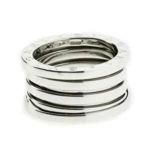 BVLGARI women's B.ZERO1 4 band ring in 18K white gold - size US 7.75 - Italy 56