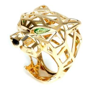 e3ff1c90ad414 Cartier Panthère de Cartier Ring with Onyx & Tourmaline in 18K Gold