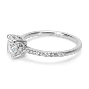 Round Cut Diamond Engagement Ring set in Platinum 1.20 ctw