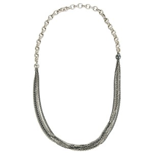 BRAND NEW Gurhan Two Toned Necklace in Sterling Silver MSRP 4,675