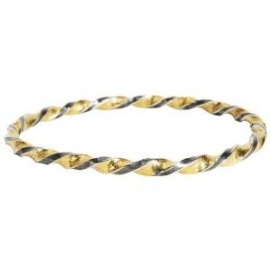 Gurhan Midnight Bangle Bracelet in Sterling Silver MSRP 4,150
