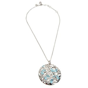 BRAND NEW Di Modolo Blue Quartz Necklace in Plated Rhodium MSRP 1275