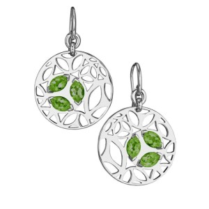 Di Modolo Green Quartz Drop Earrings Rhodium Plated Sterling Silver MSRP 650