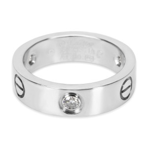 Cartier Diamond Love Ring in 18K White Gold (0.22 CTW)