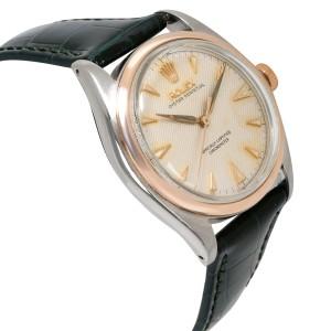 Vintage Rolex Bubbleback 6084 Men's Watch in 14kt Stainless Steel/Rose Gold