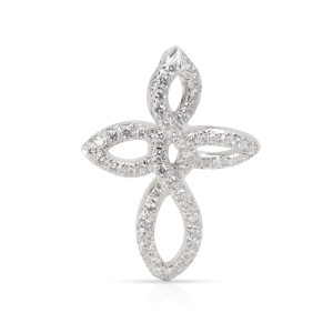 Dunay Diamond Cross Necklace in  Platinum 1 CTW