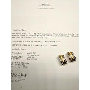 Tiffany & Co. Atlas Numeric Diamond Earrings in 18K Yellow Gold 1.6 CTW