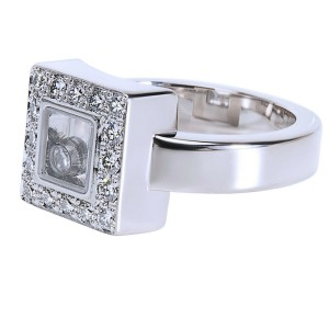 Chopard Happy Diamond Ring in 18K White Gold 0.38 CTW