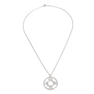Tiffany & Co. Open Atlas Diamond Pendant in 18k White Gold 0.2 CTW