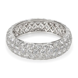 Tiffany & Co. Etoile 4 Rows Pave Diamond Ring in Platinum 2.90 Carats