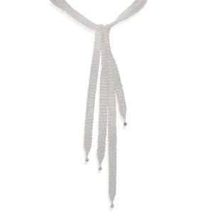 Tiffany & Co. Elsa Peretti Mesh Necklace in Sterling Silver