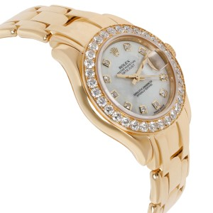 Rolex Pearlmaster 80298 Women's  Diamond Watch in 18kt Yellow Gold