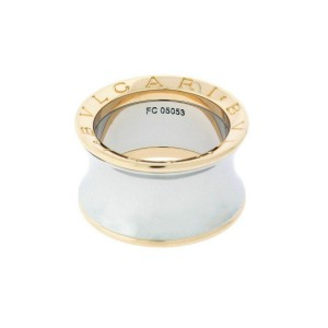 Bvlgari B.ZERO1 Anish Kapoor ring in 18k rose gold & steel size 52