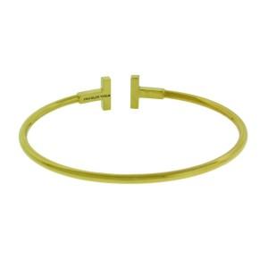 Tiffany & Co T wire diamond bracelet bangle in 18k yellow Gold size M