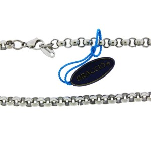 Braccio AN260002 Men's necklace in Stainless Steel 24 inches long