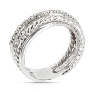 David Yurman Crossover Diamond Ring in  Sterling Silver 0.17 CTW