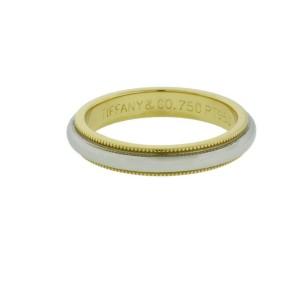 Tiffany & Co milgrain band in platinum & 18k yellow gold size 9.5