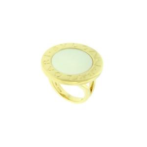 Bvlgari Bvlgari 18k large mother of pearl Ring Size 5.25