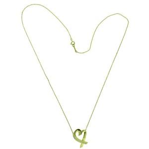 TIFFANY & CO Paloma Picasso Large loving heart diamond necklace 18k