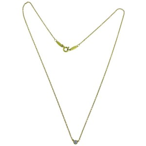 Tiffany Elsa Peretti .08 carat Diamond by the yard solitaire 18k necklace