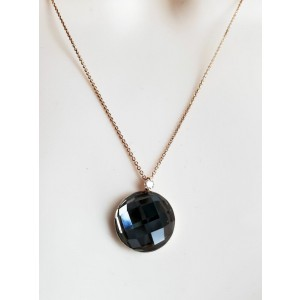Roberto Coin 18k Rose Gold Diamond & smokey Quartz Pendant Necklace