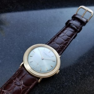 Men's Audemars Piguet Geneve 18k Solid Gold Dress Watch, c.1970s Swiss NS40BRN