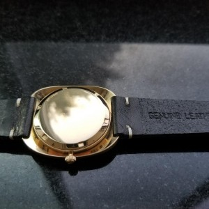 Men's Movado 14K Gold Kingmatic HS360 Date Automatic, c.1960s Vintage LV437BLK