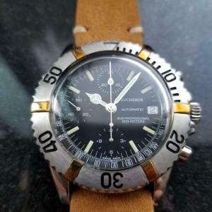 Men's Bucherer Sub Professional Chronograph Automatic 40mm 1970s Swiss MS114TAN