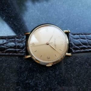 IWC Men's 18K Solid Gold cal.89 Manual Hand-Wind Dress Watch c.1950s Swiss LV539