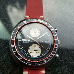 "Men's Seiko Yachtman ref.6138 Day Date Auto 44mm Chronograph ""UFO"" 1970s GG42RED"