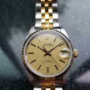 Men's Tudor Prince Oysterdate Ref.72033 14k & SS 32mm Automatic, c.1990s MA157