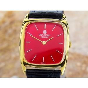 Universal Geneve Swiss Made Unisex Gold Plated 28mm Dress Watch Manual 1960s J82