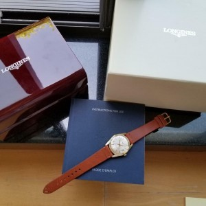 Longines Conquest Mens Automatic 34mm Gold Capped 1960s Watch wBox Book LV404