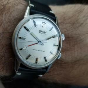 Tudor Men's Advisor 10050 35mm 1980s Hand-Wound Alarm Watch Vintage Swiss LV601