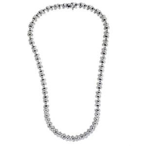 Tiffany & Co Signature X diamond Necklace in 18k white gold