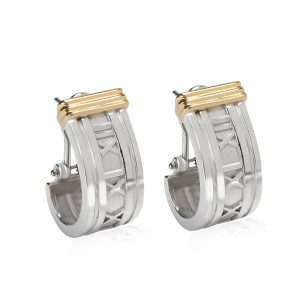 Tiffany & Co Atlas Collection Earrings in 18K Yellow Gold/Sterling Silver