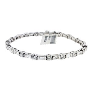 Odelia Women's 8.45 Carat Diamond Tennis Bracelet In 18K White Gold