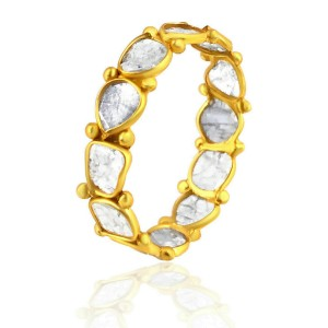 Rock & Divine Dawn Collection Luminary Eternity  Ring in 18K Yellow Gold 0.72ctw