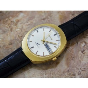 Mens Bulova N0 35mm Gold-Plated Day Date Automatic, c.1960s Vintage J53