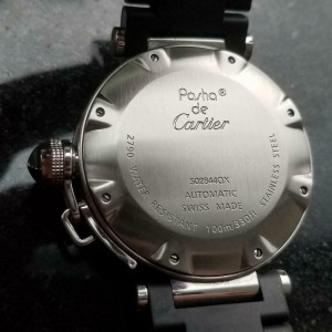 Mens Cartier Pasha Seatimer 2790 40m Date Automatic, c.2000s Swiss Luxury LV719
