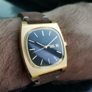 Mens Omega Geneve 36mm Gold-Plated Day Date Automatic, c.1970s Vintage J728BRN