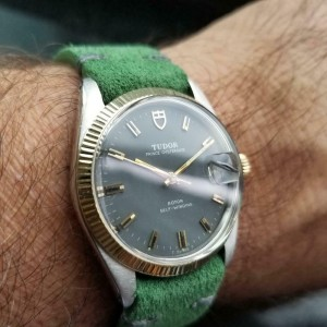 Mens Tudor Prince Oysterdate 7990 34mm 14k & ss Automatic c.1960s Vintage LV830