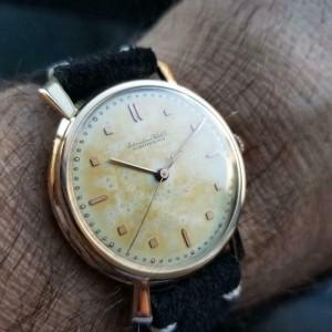 Mens IWC Schaffhausen 36mm 18K Rose Gold Hand-Wind, c.1960s Swiss Vintage LV898