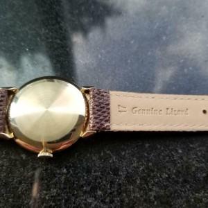 Mens Omega Cal.302 34mm 14k Gold Hand-Wind Dress Watch, c.1950s Vintage LV946