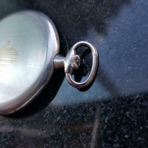 Tiffany & Co. Rare Platinum 14736 Pocket Watch 45mm, c.1930s Swiss Luxury LV980